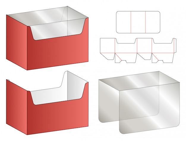 Boîte d'emballage die cut modèle conception 3d