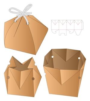 Boîte d'emballage die cut template design 3d