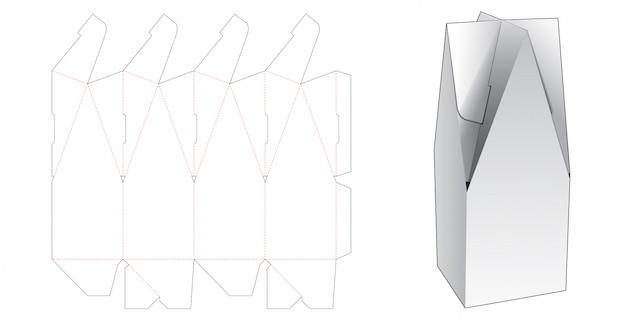 Boîte d'emballage en forme de maison avec gabarit prédécoupé
