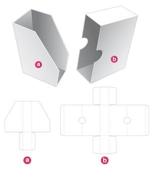 Boîte d'emballage de livre avec couvercle modèle découpé