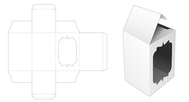 Boîte d'emballage avec modèle de découpe de fenêtre de luxe d'affichage
