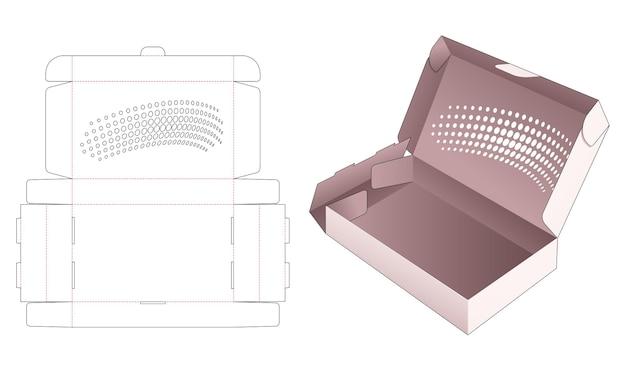 Boîte d'emballage pliante avec modèle de découpe de points de demi-teinte au pochoir