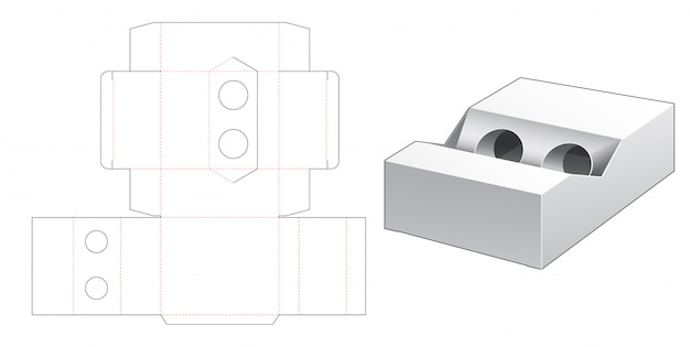 Boîte d'emballage pour gabarit de découpe d'objet cylindrique