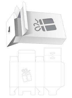 Boîte d'emballage suspendue avec gabarit de découpe au pochoir de boîte-cadeau