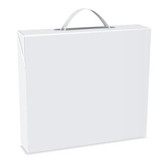 Boîte d'emballage vierge avec poignée