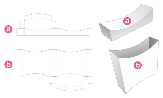 Boîte en fer-blanc incurvée avec couvercle gabarit découpé
