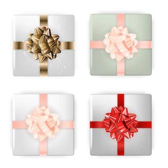 Boîte festive colorée avec jeu d'arc