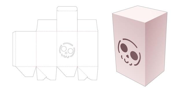 Boîte avec gabarit découpé au pochoir motif halloween