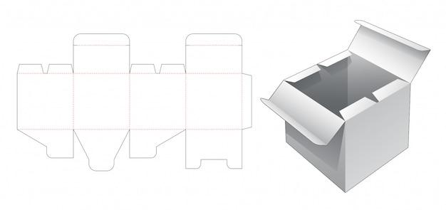 Boîte avec gabarit prédécoupé à point ouvert central