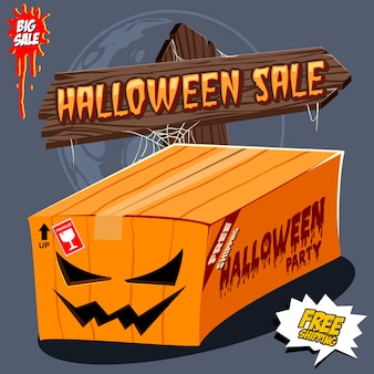 Boîte d'halloween