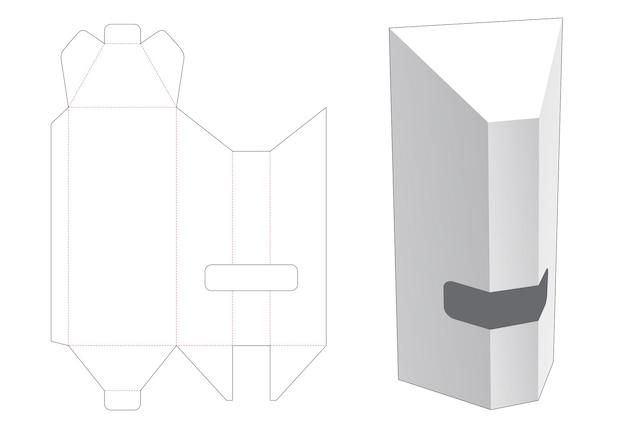 Boîte haute inclinée avec gabarit de découpe de fenêtre