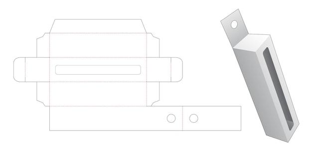 Boîte haute suspendue avec gabarit de découpe de grande fenêtre