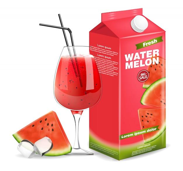 Boîte de jus de melon d'eau b