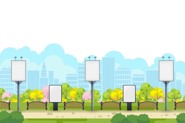 Boîte à lumière et modèle de bannière publicitaire