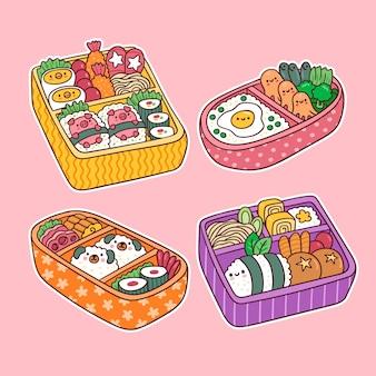 Boîte à lunch japonaise asiatique bento kawaii