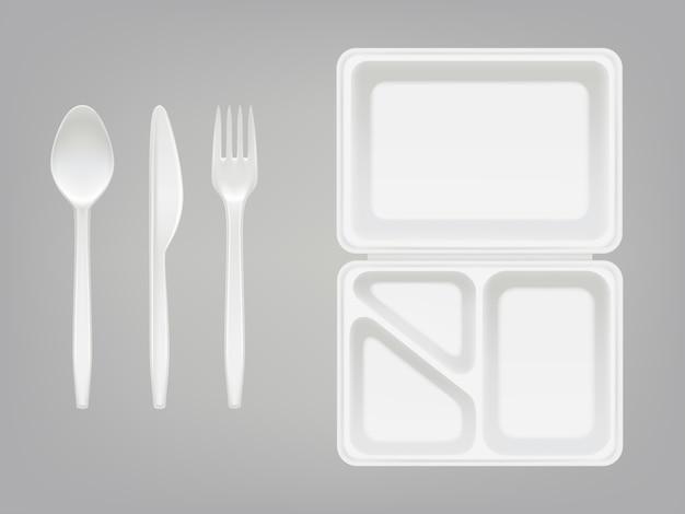 Boîte à lunch en plastique jetable