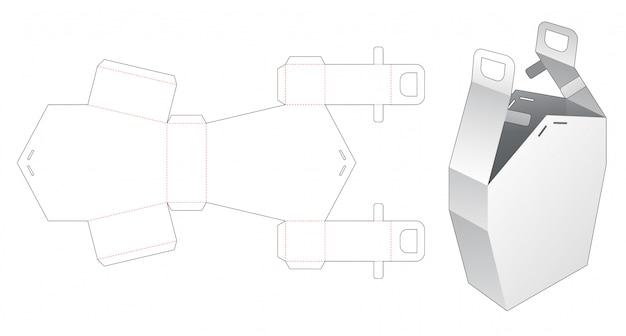 Boîte de maison avec modèle de découpe