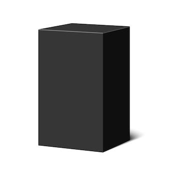 Boîte noire. paquet. illustration.