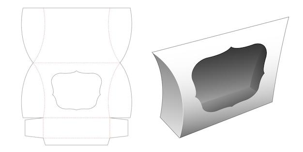 Boîte à oreiller avec conception de modèle de fenêtre découpée