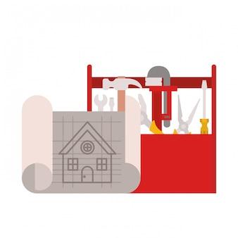Boîte à outils de construction isolée