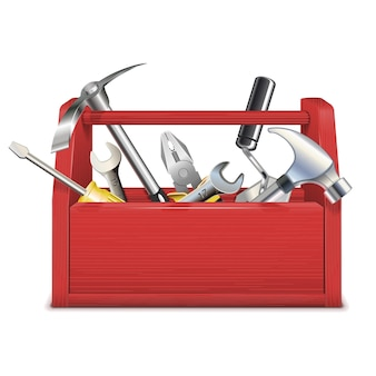 Boîte à outils rouge vectorielle