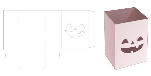 Boîte de papeterie avec gabarit découpé au pochoir motif halloween