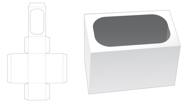 Boîte de papeterie avec modèle découpé à la bordure incurvée