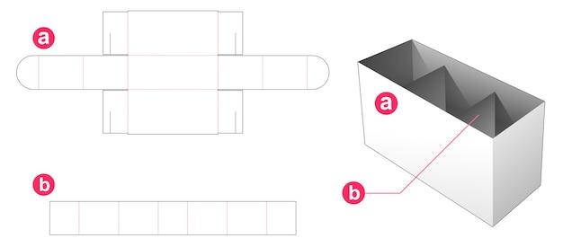 Boîte de papeterie qui a 3 partitions gabarit découpé