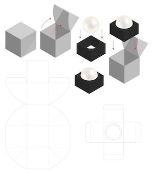 Boîte de papier dur pour dieline de maquette arrondie de savon