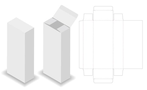 Boîte de paquet cosmétique 3d maquette avec dieline