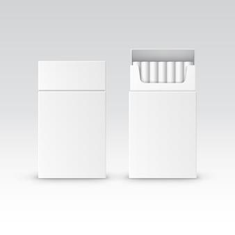 Boîte de paquet de paquet vide de vecteur de cigarettes