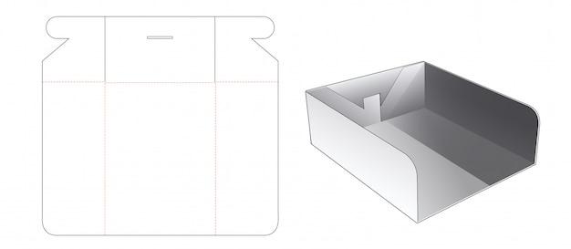 Boîte à plateaux avec gabarit découpé pour fenêtre