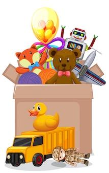 Boîte pleine de jouets