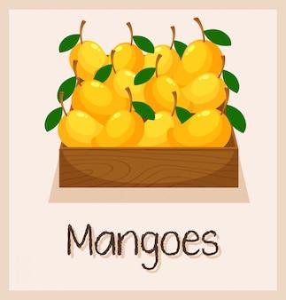 Une boite pleine de mangues