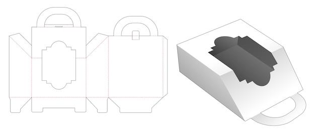 Boîte de poignée avec modèle de découpe de fenêtre de luxe