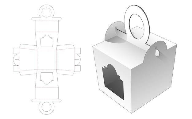 Boîte de poignées en forme de cercle avec conception de modèle de fenêtre découpée