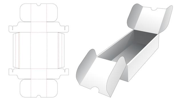 Boîte de point d'ouverture centrale en carton avec couvercle gabarit découpé