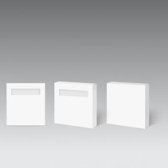 Boîte de produit blanche avec fenêtre