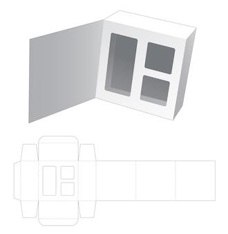 Boîte à rabat en carton avec gabarit de découpe invisible pour supporter inaert