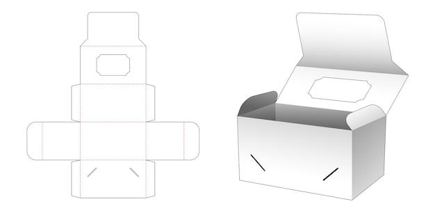 Boîte à rabat avec conception de modèle découpé à la fenêtre supérieure