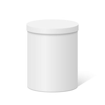 Boîte de récipient ronde en plastique