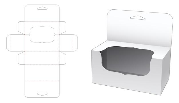 Boîte suspendue avec conception de modèle de fenêtre de luxe découpée
