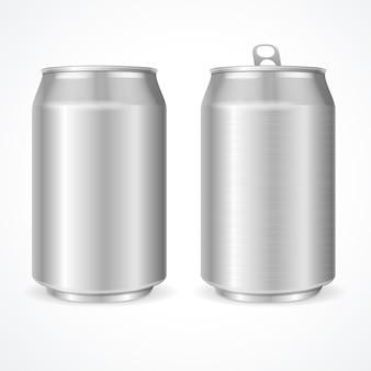 Boîtes en aluminium vierges.