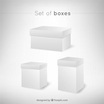Boîtes blanches en perspective