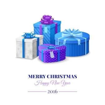 Boîtes cadeaux colorées