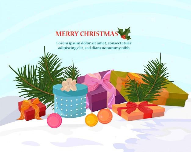 Boîtes à cadeaux colorés joyeux noël