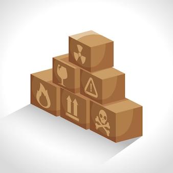 Boîtes carton service de livraison d'emballage