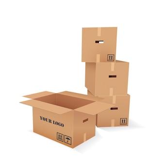 Boîtes en carton de vecteur