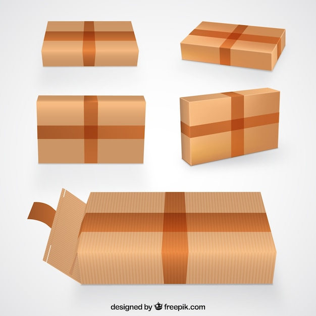Les boîtes en carton