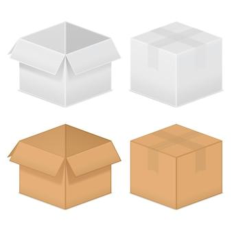 Boîtes en carton,